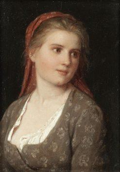 Portrait of a Young Girl | Johann Georg Meyer von Bremen | Oil Painting