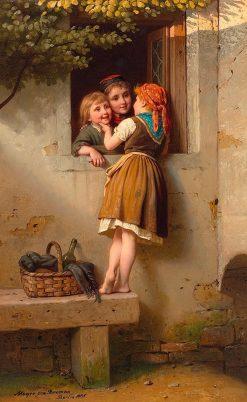 Die Plaudertasche(also known as The Chatterbox) | Johann Georg Meyer von Bremen | Oil Painting