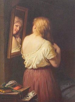 Girl at Her Toilet | Johann Georg Meyer von Bremen | Oil Painting