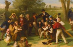 The Fight(also known as The Cricket Match) | John Morgan | Oil Painting