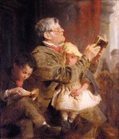 Reading the Text | John Morgan | Oil Painting