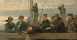 The Lifeboat Crew(also known as The Men that Man the Lifeboat) | John Morgan | Oil Painting