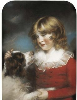 Portrait of a Young Boy with a Spaniel | John Russell | Oil Painting