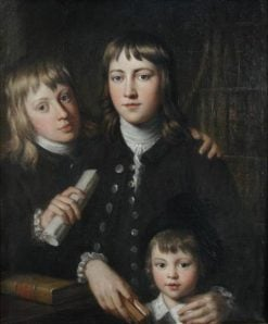 Portrait of Three Anstey Brothers | John Russell | Oil Painting