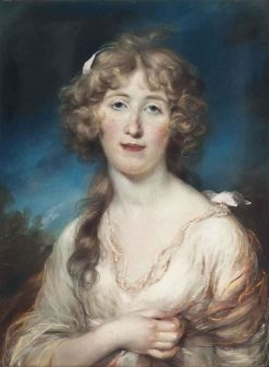 Portrait of a Young Woman   John Russell   Oil Painting