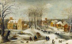Winter Landscape | Joos de Momper the Younger | Oil Painting