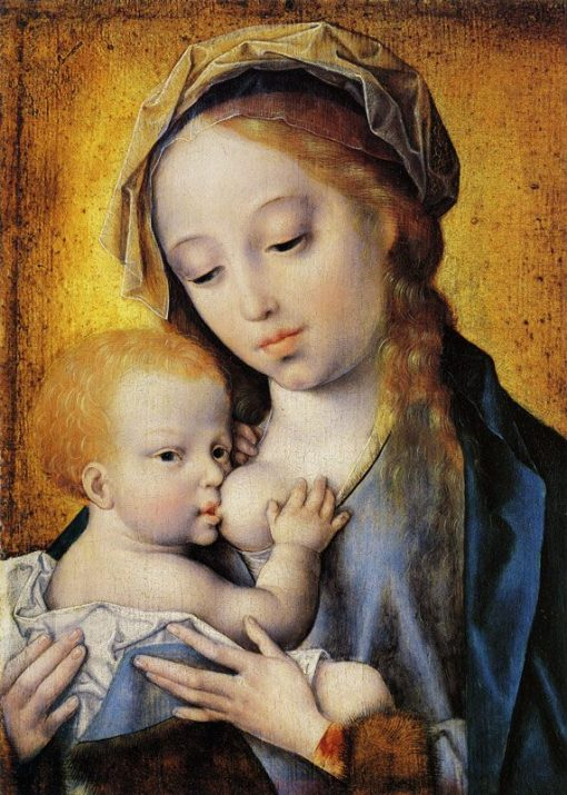Madonna and Child   Joos van Cleve   Oil Painting