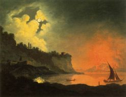 View of Vesuvius from Posilippo | Joseph Wright of Derby | Oil Painting