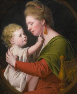 Portrait of Jane Darwin and Her Son William Brown Darwin | Joseph Wright of Derby | Oil Painting