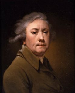 Self-Portrait Aged 59 in a Grey-Brown Coat | Joseph Wright of Derby | Oil Painting