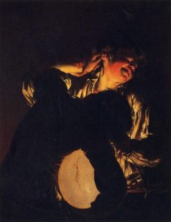 Two Boys Fighting over a Bladder | Joseph Wright of Derby | Oil Painting