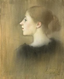 Profile of a Young Woman | Jozsef Rippl Ronai | Oil Painting