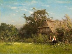 Farmhouse in the Altes Land | Karl August Heinrich Ferdinand Oesterley