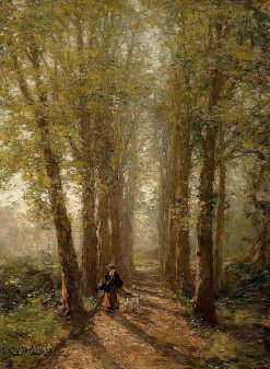 A Walk in an Autumn Landscape | Karl August Heinrich Ferdinand Oesterley