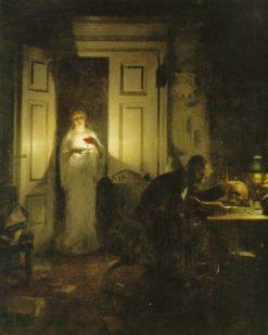 Nattliga studier   Knut Ekwall   Oil Painting