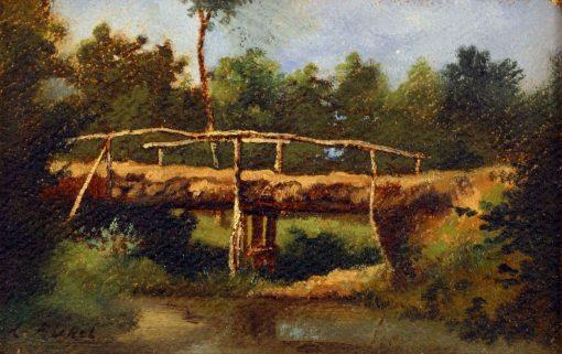 Le pont | LEon Richet | Oil Painting