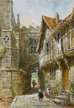 East Gate at Warwick | Louise Rayner | Oil Painting