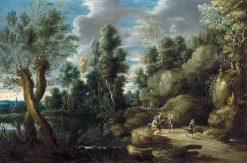 River Landscape   Lucas van Uden   Oil Painting
