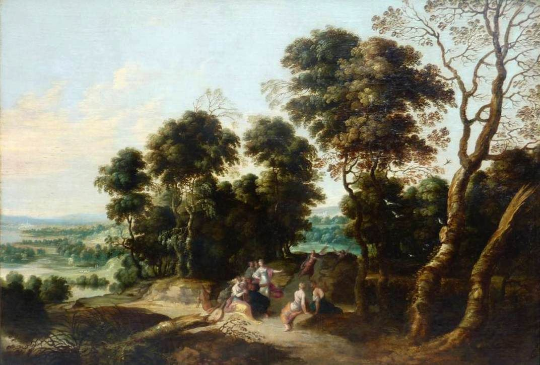 Landscape with the Contest between the Muses and the Pierides | Lucas van Uden | Oil Painting