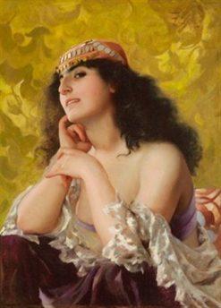 Oriental Beauty   Luis Ricardo Falero   Oil Painting