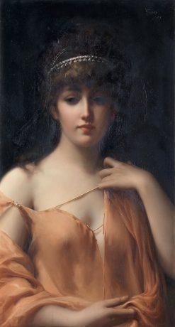 A Classical Beauty   Luis Ricardo Falero   Oil Painting