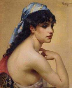 A Spanish Beauty   Luis Ricardo Falero   Oil Painting
