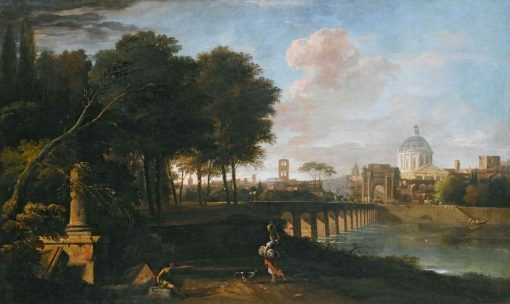 A Capriccio Landscape with a Domed Church | Marco Ricci | Oil Painting