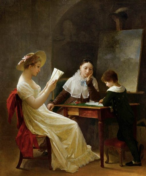 The Young Sketcher | Marguerite GErard | Oil Painting