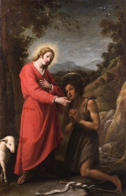 Jesus and John the Baptist | Matteo Rosselli | Oil Painting