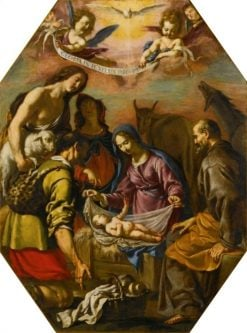 The Adoration of the Shepherds | Matteo Rosselli | Oil Painting