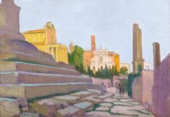 Vue du forum romain depuis la Curie | Maurice Denis | Oil Painting