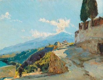 Mt. Etna | Max Friedrich Ferdinand Rabes | Oil Painting