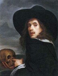 Portrait of a Man Holding a Skull | Michiel Sweerts | Oil Painting