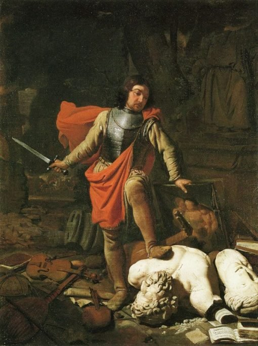 Mars Destroying the Arts   Michiel Sweerts   Oil Painting