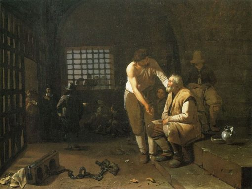 The Seven Acts of Mercy: Ministering to Prisoners | Michiel Sweerts | Oil Painting