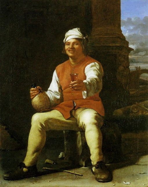 Man Drinking   Michiel Sweerts   Oil Painting