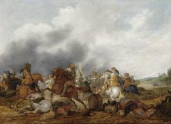 Cavalry Battle Scene | Palamedes Palamedesz I | Oil Painting
