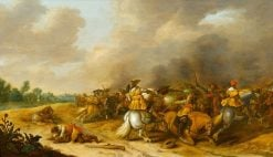 Cavalry Skirmish | Palamedes Palamedesz I | Oil Painting