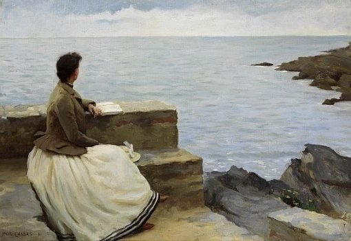 Woman by the Sea   Paul Emile Chabas   Oil Painting