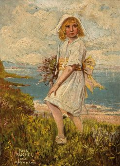 Girl in a Coastal Landscape | Paul Gustave Fischer | Oil Painting