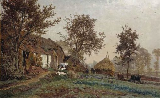 A Farm in Oosterbeek | Paul Joseph Constantin Gabriel | Oil Painting