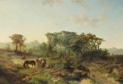 Travelers Resting in a Summer Landscape   Paul Joseph Constantin Gabriel   Oil Painting