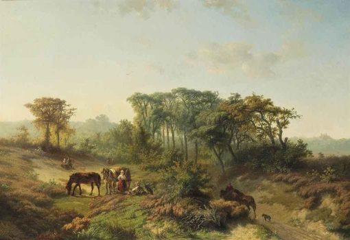 Travelers Resting in a Summer Landscape | Paul Joseph Constantin Gabriel | Oil Painting