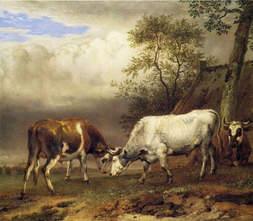 Fighting Bulls   Paulus Potter   Oil Painting