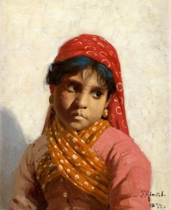 Young Girl(also known as Sydiandsk flicka) | Peder Mork Mønsted | Oil Painting
