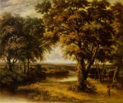 Trees near a River   Philips Koninck   Oil Painting