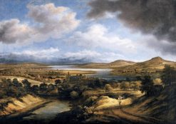Panoramic River Landscape   Philips Koninck   Oil Painting
