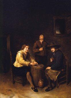 Tavern Interior   Philips Koninck   Oil Painting