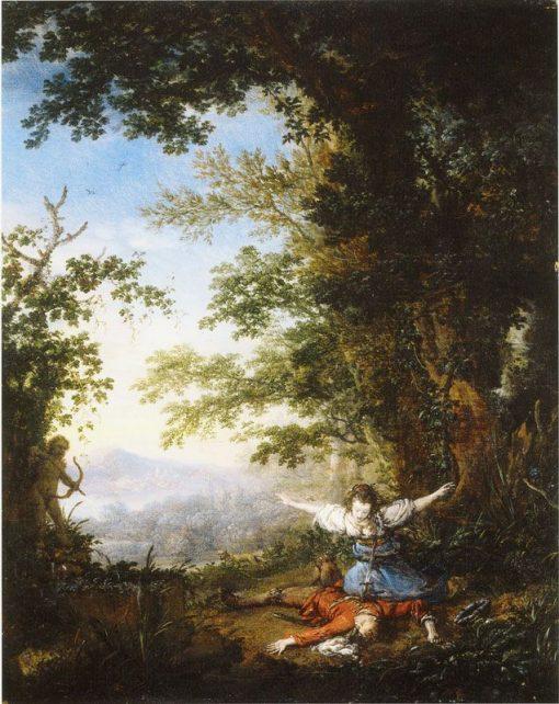 Pyramus and Thisbe   Philips Wouwerman   Oil Painting