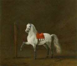 A Grey Horse in a Stable | Philips Wouwerman | Oil Painting